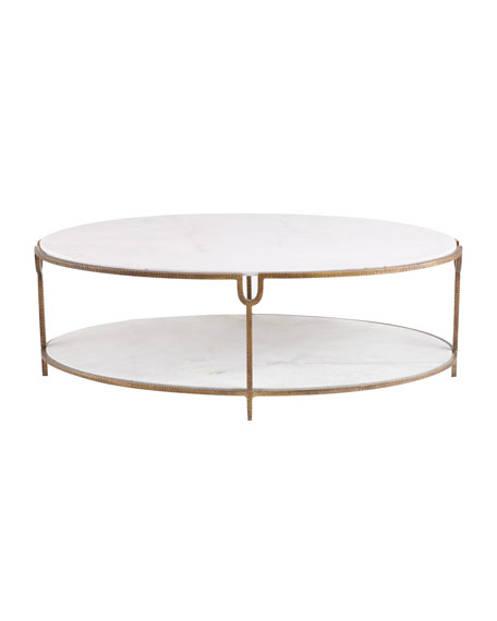 Marble Coffee Table Online: Global Views Olivia Marble-Top Coffee Table