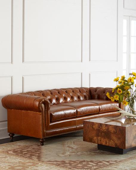 "Massoud Davidson 69"" Two-Cushion  Chesterfield Sofa"