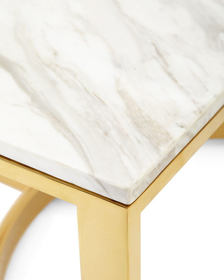 Image 4 of 6: Bernhardt Marquis Marble Coffee Table