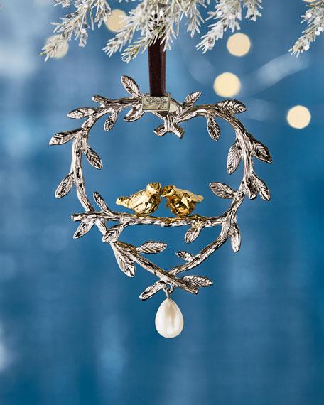 Michael Aram Two Turtle Doves Christmas Ornament