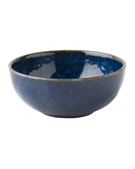 Juliska Puro Dappled Cobalt Cereal/Ice Cream Bowl