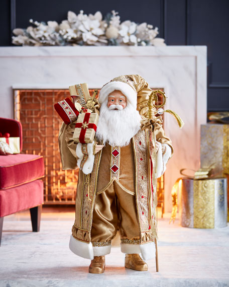 Gold & Glitter Collection Santa, 36""