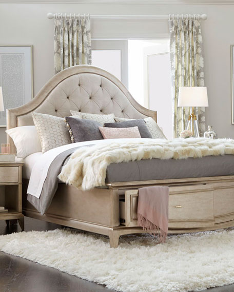 Montane Tufted Queen Bed with Drawers