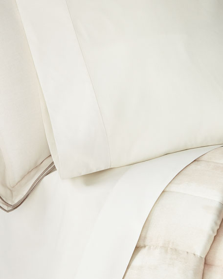 Michael Aram Striated Band King Fitted Sheet
