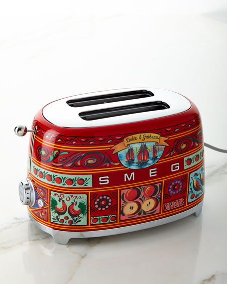 Image 3 of 6: Dolce Gabbana x SMEG Sicily Is My Love Toaster