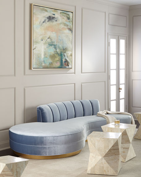 """Layla Chanel Tufted Curved Sofa  121"""""""