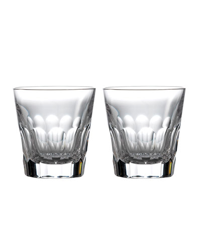 Jeff Leatham Icon Double Old-Fashioned Glasses  Set of 2 - Clear