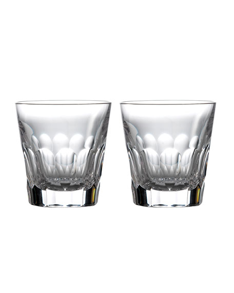 Waterford Crystal Jeff Leatham Icon Double Old-Fashioned Glasses, Set of 2 - Clear