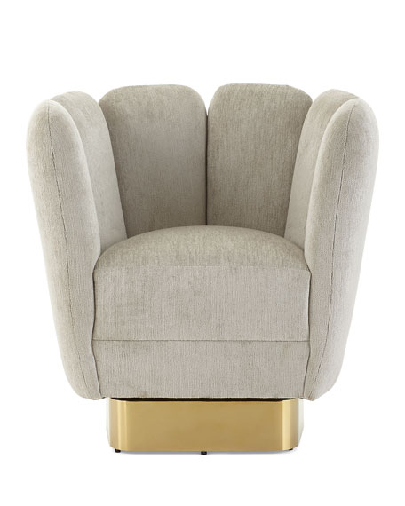 Interlude Home Gallery Brass Swivel Chair