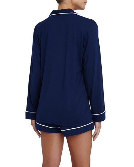 Eberjey Gisele Long-Sleeve Short Pajama Set