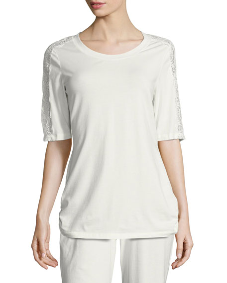 Jersey Short-Sleeve Lounge Top