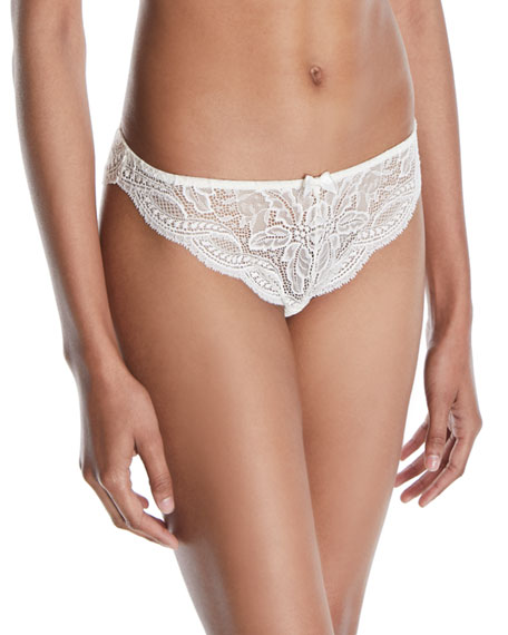 Eden Floral-Lace Tanga Thong