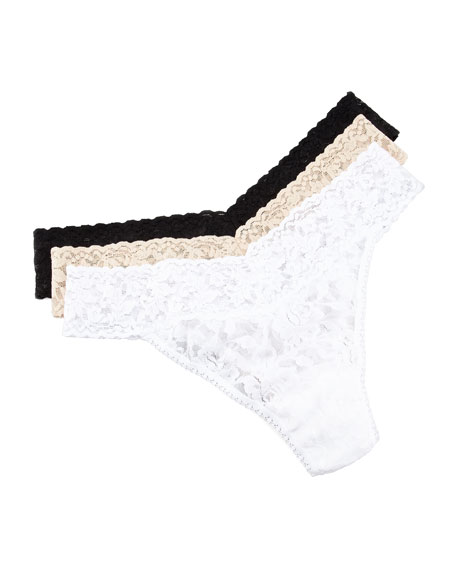 Signature Lace Thong, Plus Size