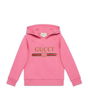 c699f078b12850 Gucci Vintage Logo Hooded Sweatshirt, Size 4-10