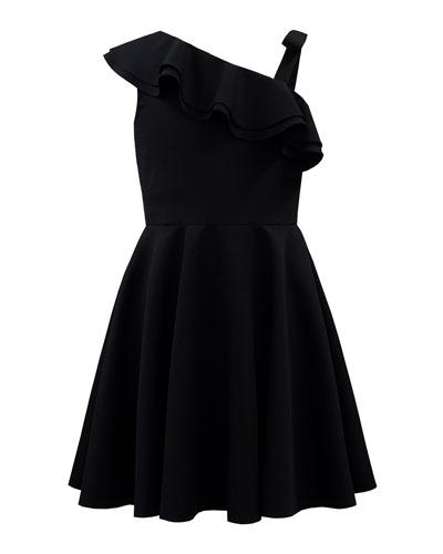 Crepe One-Shoulder Dress  Size 8-16