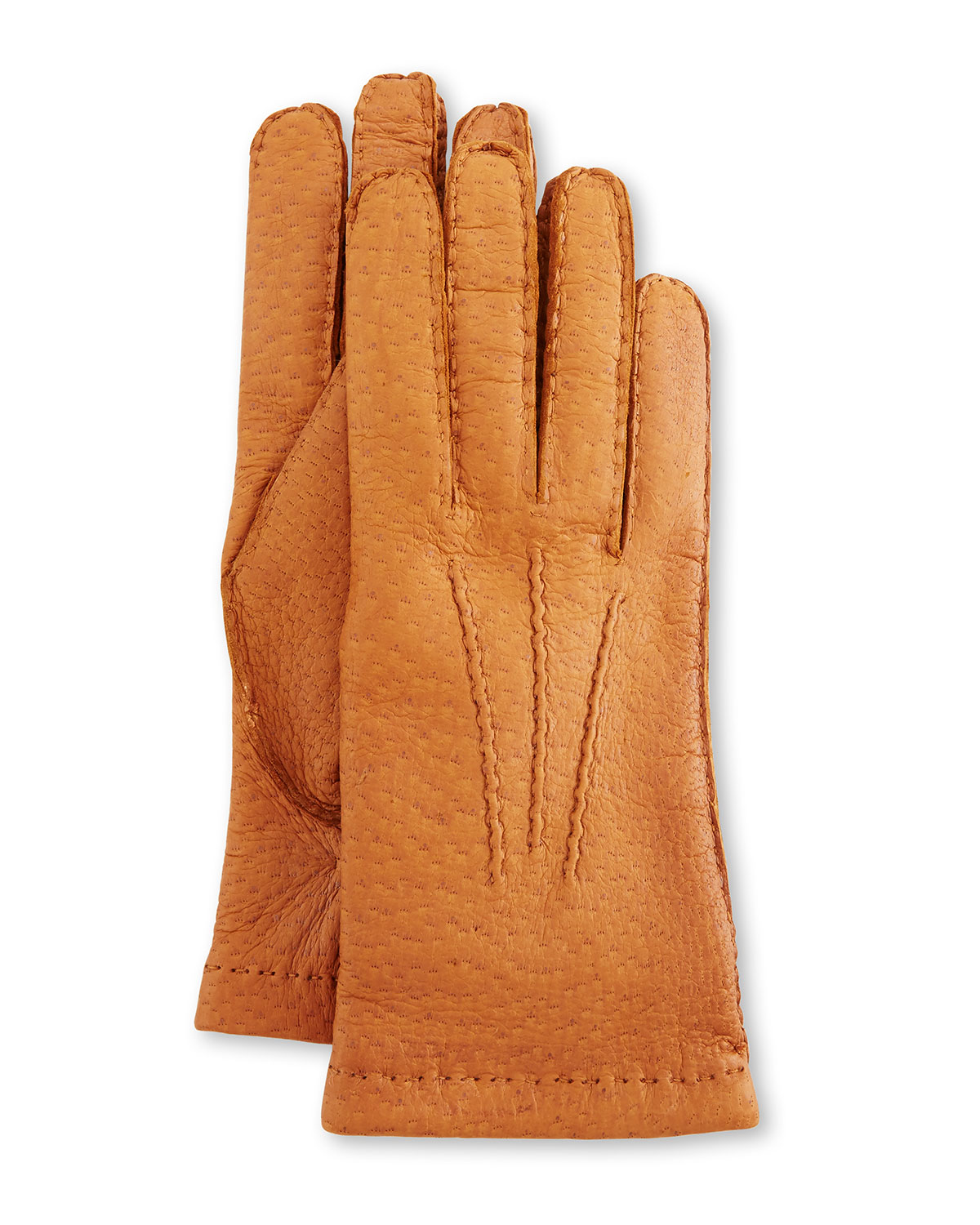 6ab73b2cf89fd Hestra Gloves Peccary Hand-Sewn Leather Cashmere-Lined Gloves ...