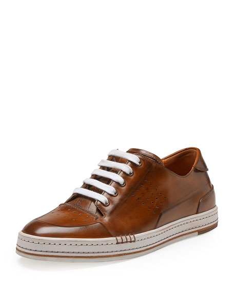Berluti Playtime Leather Sneaker Brown Neiman Marcus