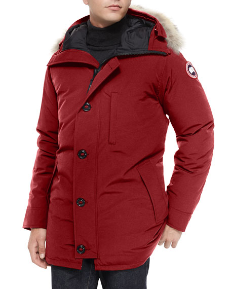 Canada Goose Chateau Fur-Trimmed Parka Jacket, Red