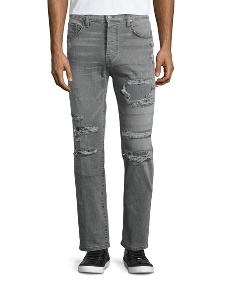 J Brand Jeans Tyler Destroyed Slim-Fit Denim Jeans,