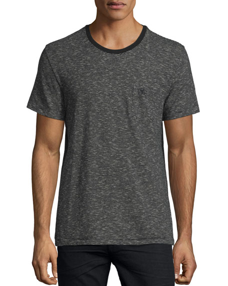 Burberry Seersucker-Pinstripe Short-Sleeve T-Shirt