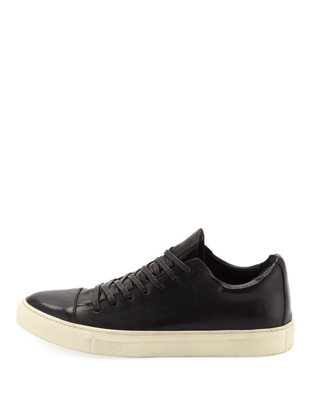 John Varvatos Men's 315 Reed Leather Low-Top Sneakers, Black
