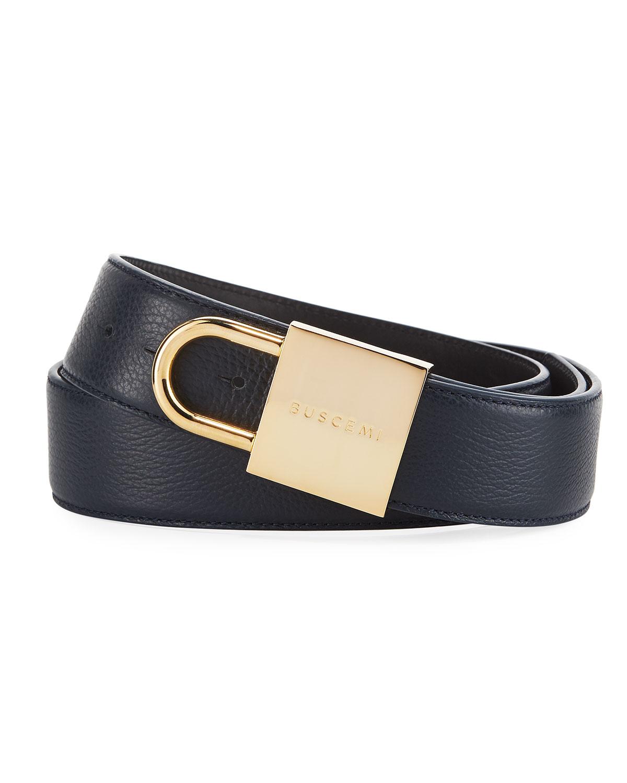 Buscemi Leather Lock Belt | Neiman Marcus
