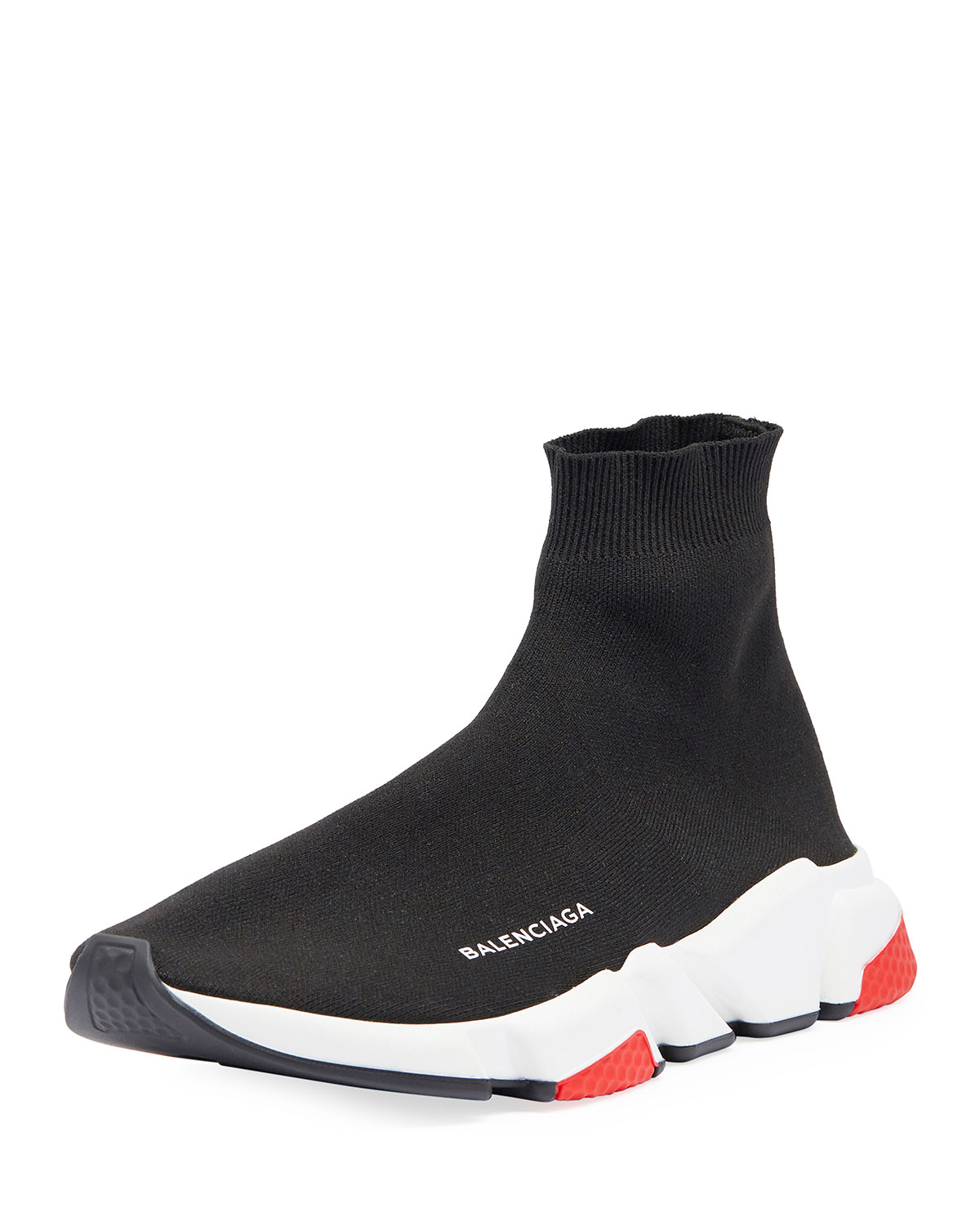 749deb37e3be19 Balenciaga Men's Speed Mid-Top Trainer Sock Sneakers | Neiman Marcus