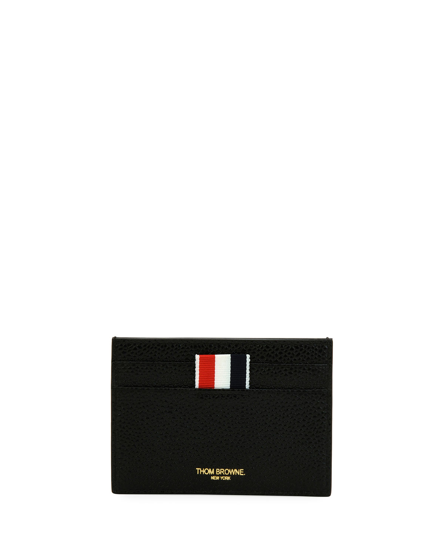 single card holder with vertical stripes - Thom Browne Card Holder