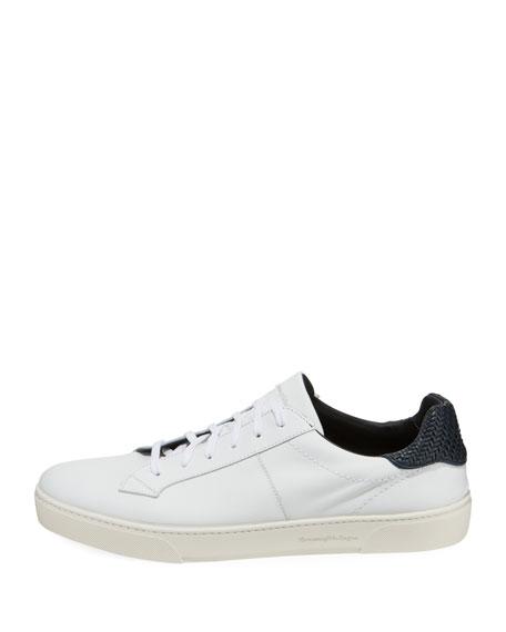 Ermenegildo Zegna Men's Vulvanizzato Leaf-Print Slip-On Sneakers
