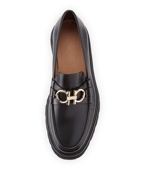 Bleecker Leather Lug-Sole Loafers
