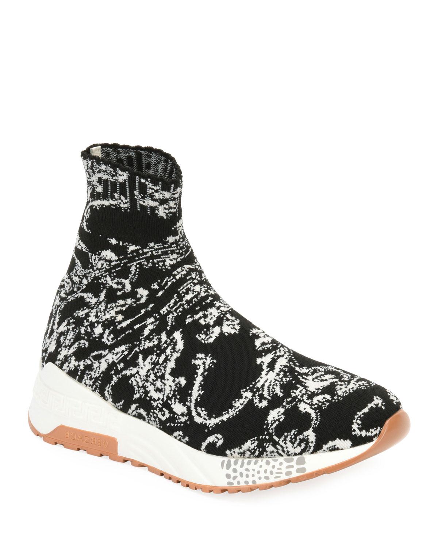 Baroque Knit Sock Sneakers