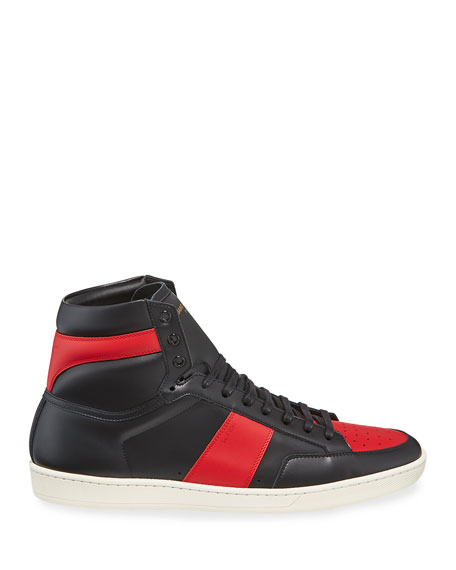 Image 3 of 4: Men's SL/10H Leather High-Top Sneakers