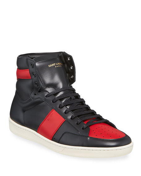 Image 1 of 4: Men's SL/10H Leather High-Top Sneakers