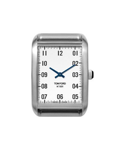 Brushed Stainless Steel Case  White Dial  Medium