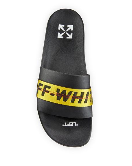 Industrial Leather Slide Sandals