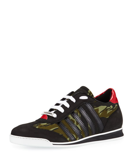 Dsquared2 Men's Camo Canvas & Leather Sneakers
