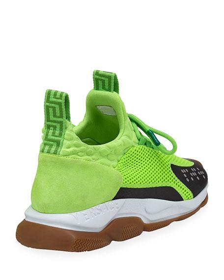 503aad2f Versace Men's Cross Chainer Neoprene & Mesh Sneakers | Neiman Marcus