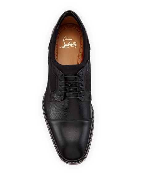 Christian Louboutin Men's Mika Sky Leather Lace up