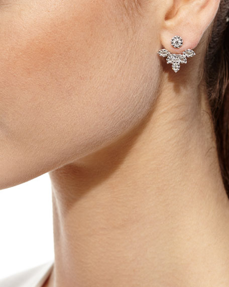 Yeprem Diamond Petal Jacket Earrings