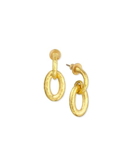 Galahad 24K Hoop Drop Earrings