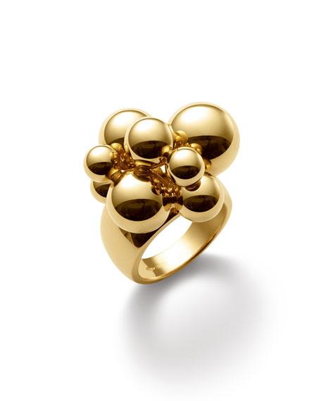 Marina B Atomo 18k Yellow Gold Cluster Ring, Size 6.5