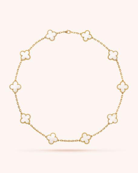 Van Cleef & Arpels Vintage Alhambra Necklace, 10