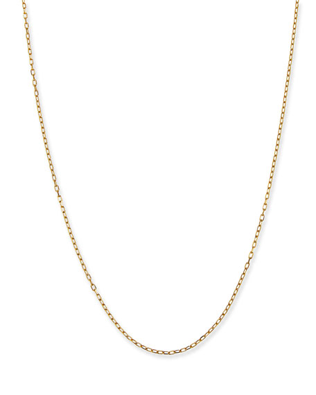 "Image 1 of 3: Siena Jewelry 14k Yellow Gold Thin Charm Chain, 18""L"