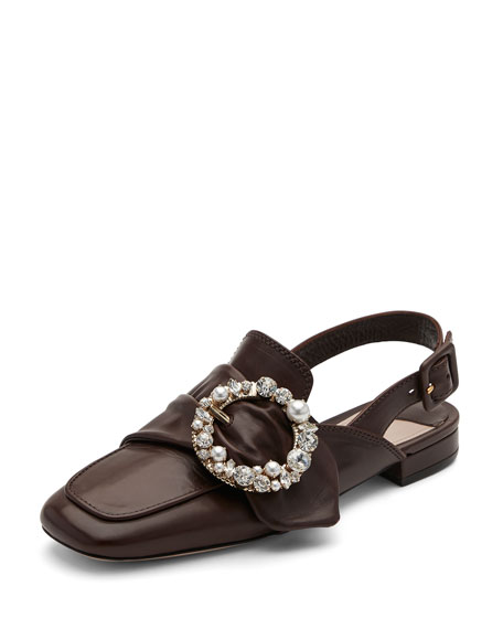 get authentic sale online Miu Miu Leather Buckle Flats outlet with mastercard cheap sale Inexpensive original sale online pp1kg1