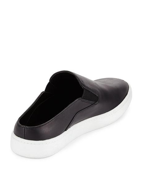 Verrell Leather Open-Back Skate Sneaker