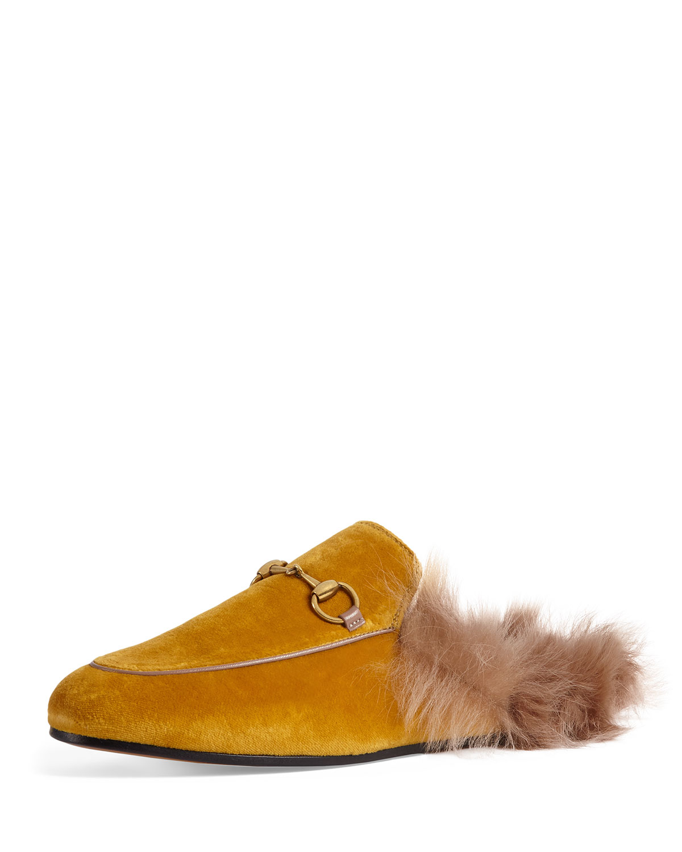 636a57ddafe Gucci Princetown Velvet Slide Mule
