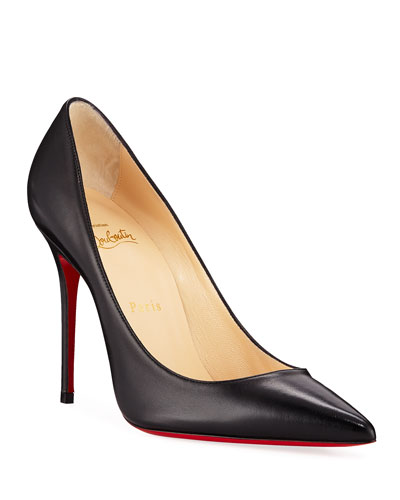 Kate Red Sole Pumps  Black