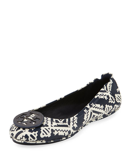 Minnie Floral Travel Logo Ballerina Flat