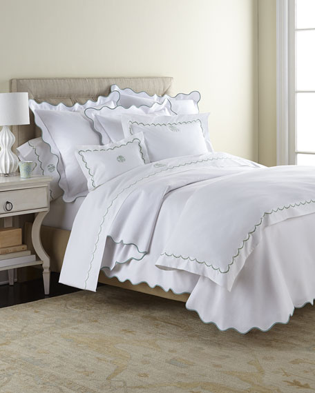 Matouk King Embroidered Percale Sham