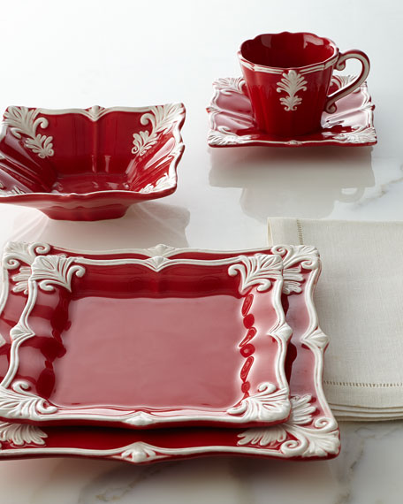Neimanmarcus Four Square Baroque Cups & Saucers